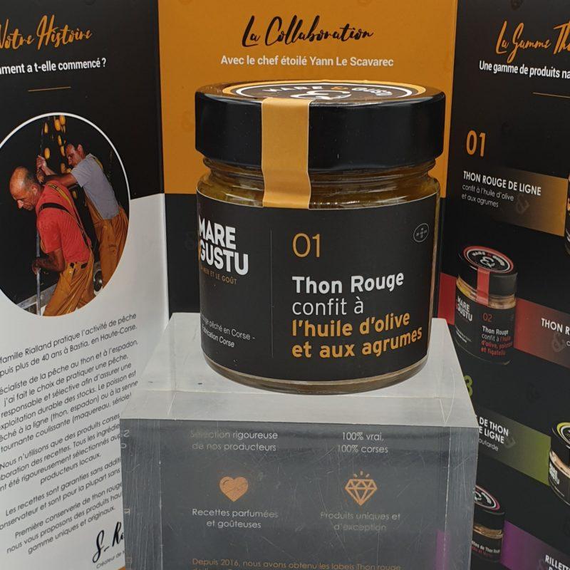 Thon rouge de ligne confit à l'huile d'olive et aux agrumes