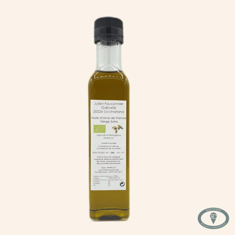 huile d'olive corse bio 25 cl julien fauconnier