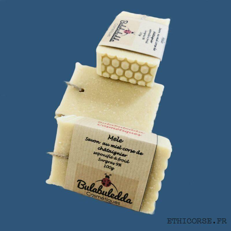 Bulabuledda - savon saponifié à froid Miel corse de châtaigner - Mele
