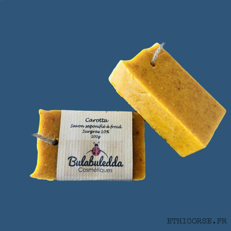 Bulabuledda - savon saponifié à froid à la carotte - Carotta