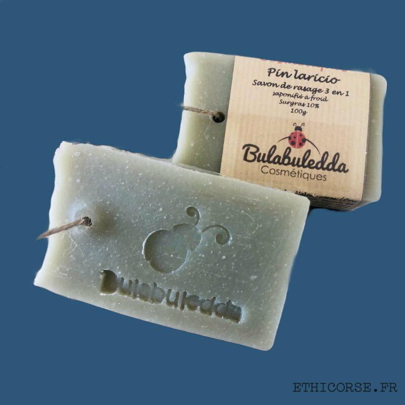 Bulabuledda - savon saponifié à froid de rasage - Pin Laricio