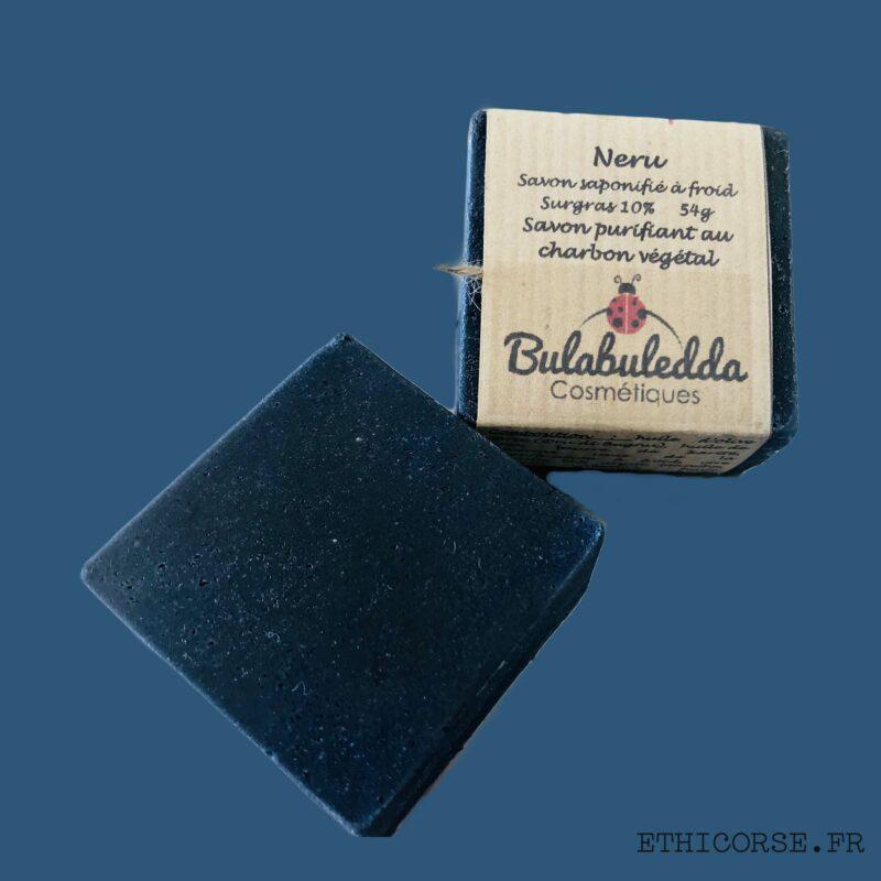 Bulabuledda - savon saponifié à froid purifiant charbon végétal - Neru