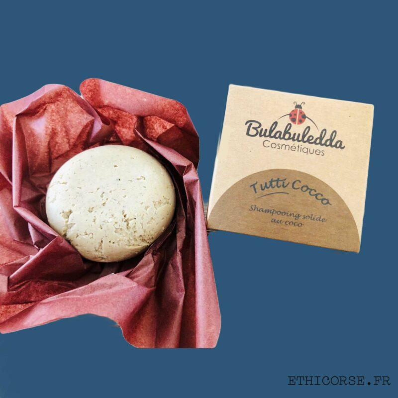 Bulabuledda - shampoing solide tutti Coco - Ethicorse.fr