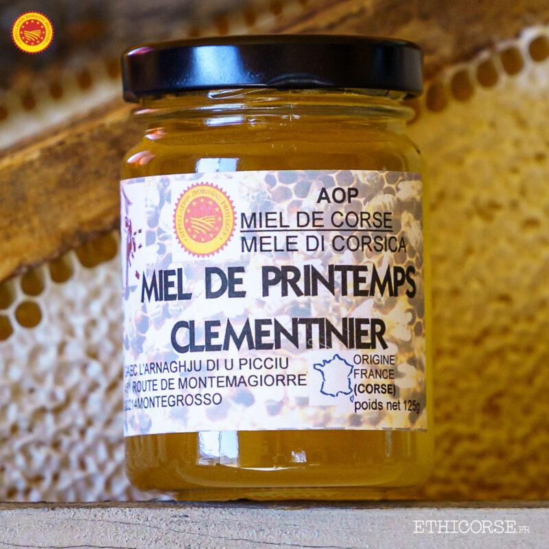 Miel de printemps clémentinier AOP 125g