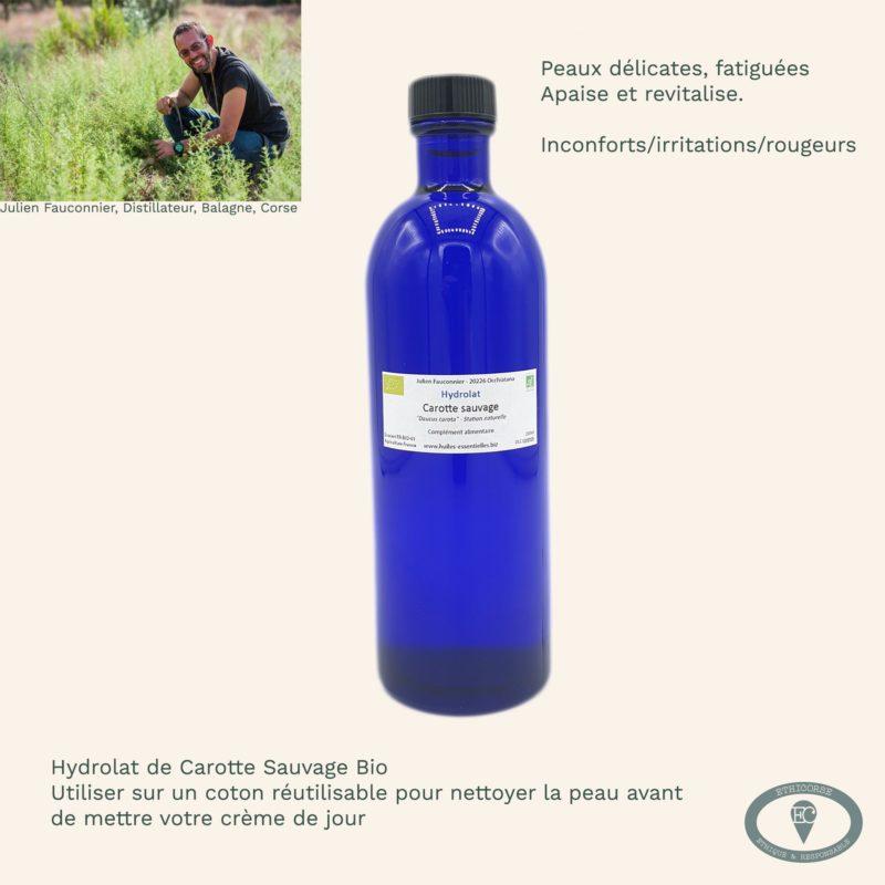 Hydrolat carotte sauvage bouteille en verre vignette produit