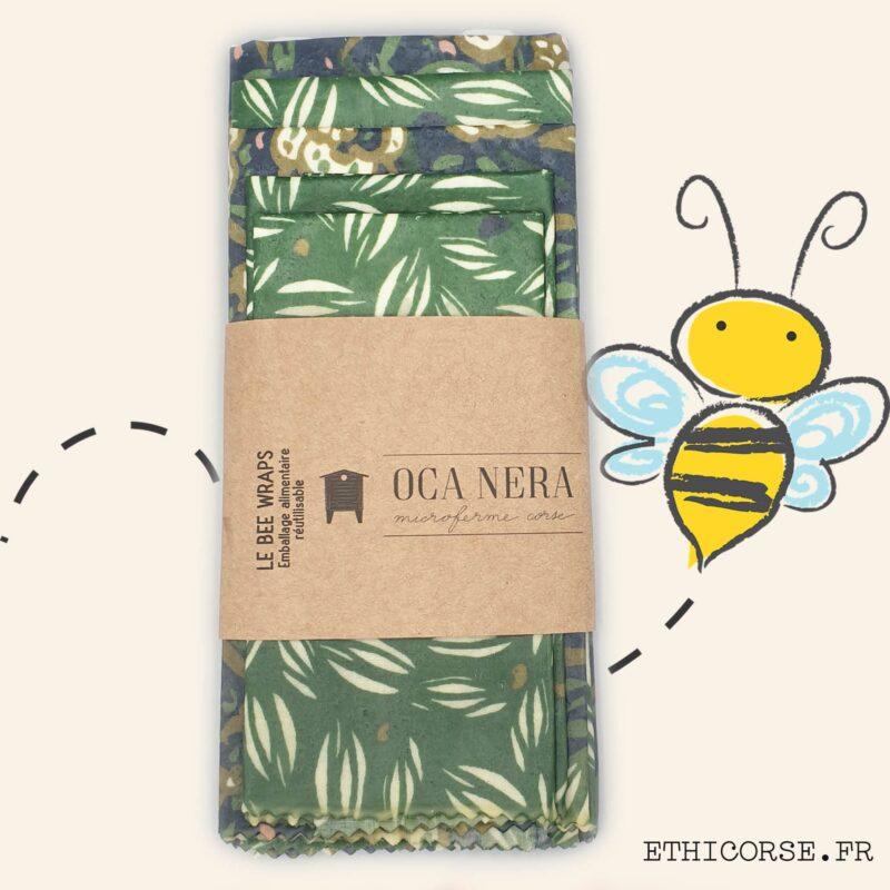 OCA NERA - Ethicorse.fr - Bee Wraps familial vert