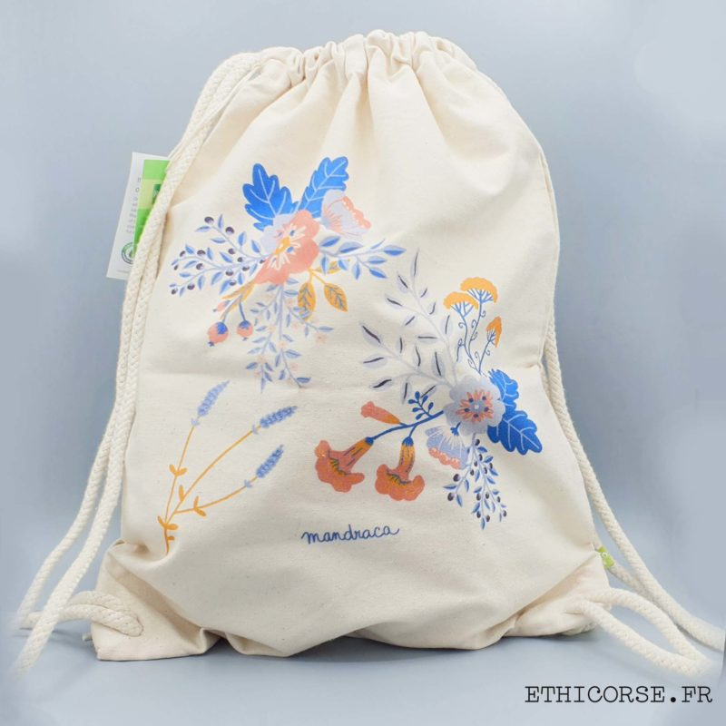 Mandraca - Ethicorse.fr - Tote sac à dos fleurs du maquis