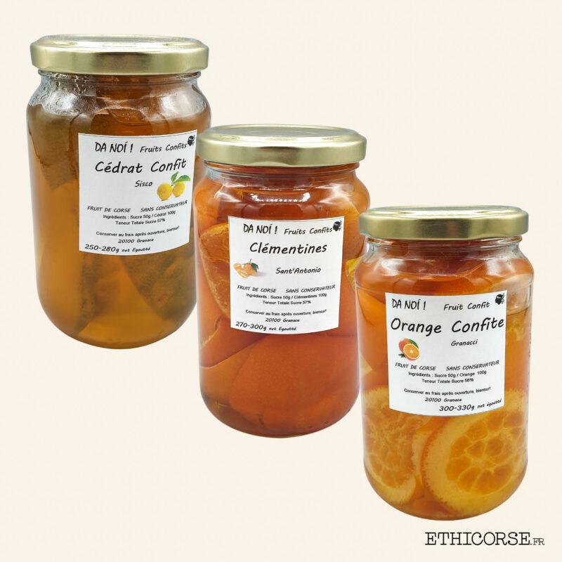 Confits Orange - Clémentine - Cédrat 300g