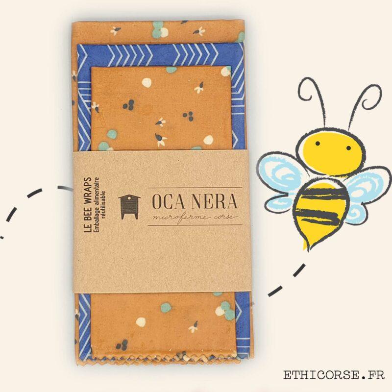OCA NERA - Ethicorse.fr - Bee Wraps medium éventail